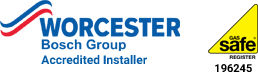 Worcester Accredited Installer and Gas Safe Registered